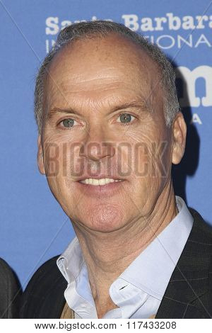 SANTA BARBARA - FEB 5:  Michael Keaton at the 31st Santa Barbara International Film Festival - American Riviera Award at the Arlington Theatre on February 5, 2016 in Santa Barbara, CA