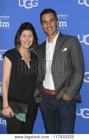 SANTA BARBARA - FEB 4:  Michelle Grinsel, Mark Grinsel at the 31st Santa Barbara International Film Festival Modern Master Award at the Arlington Theatre on February 4, 2016 in Santa Barbara, CA