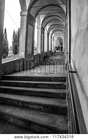 Stairways Of The Arcades That Lead To The Sanctuary Of San Luca In Bologna - Emilia-romagna - Italy