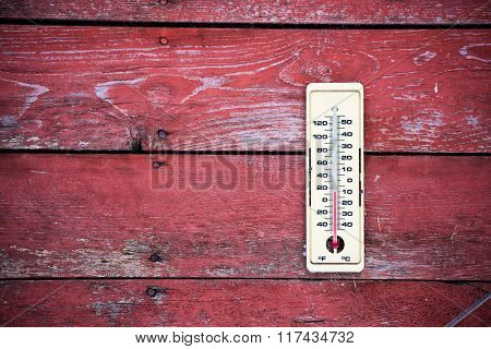 Outdoor weather thermometer