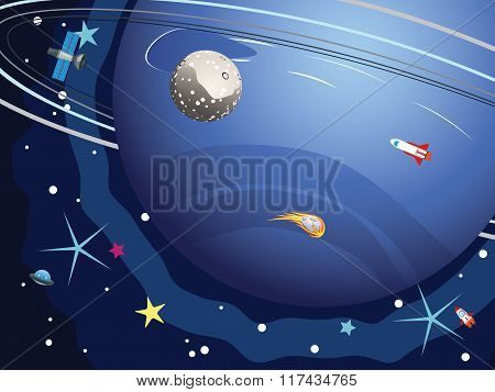 Neptune Planet In The Space