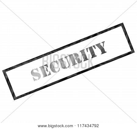 Black Rectangle Security Stamp