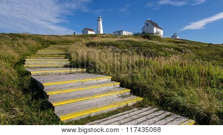 Historic Cape Spear Lighthouse On A Sunny Day