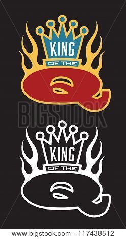 King of the Q Barbecue emblem
