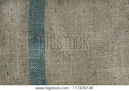 Brown Gunny Texture With Green Stripe