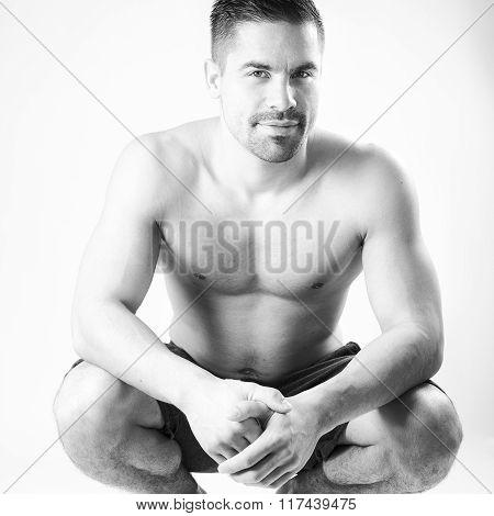 Muscular beautiful homosexual model