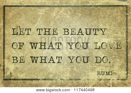 What You Do Rumi