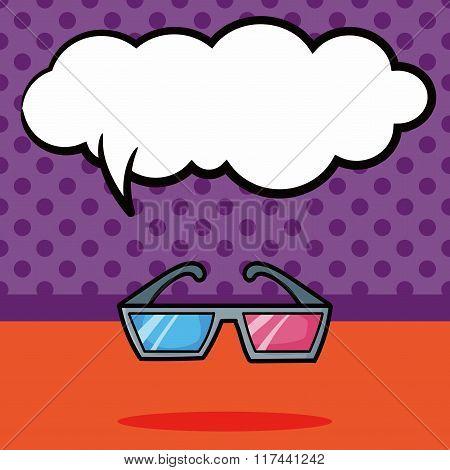 3D Glasses Doodle