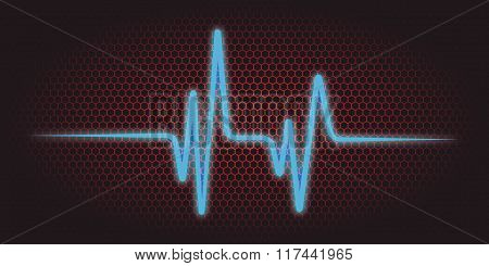 Vector Illustration Of A Cardiac Frequency Background