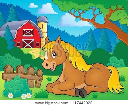 Horse topic image 2 - eps10 vector illustration.