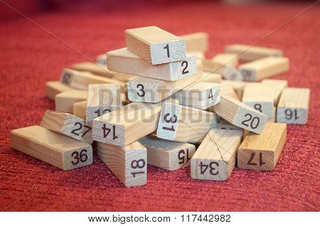 Pile Of Number Blocks