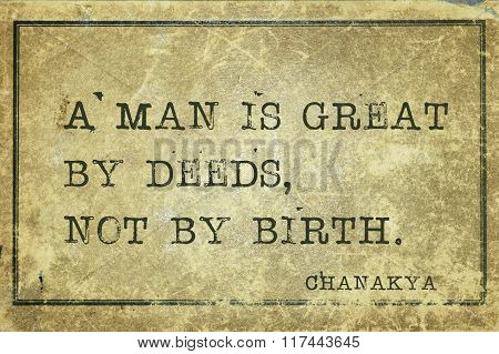 Great By Deeds Chanakya
