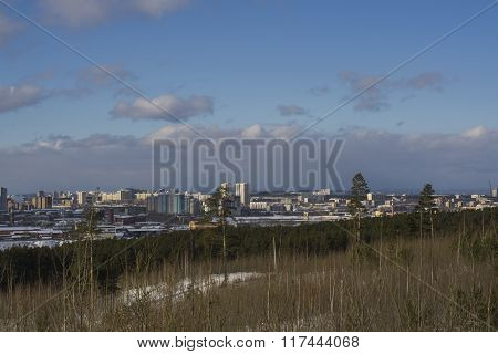 Urban Landscape In Sunny Weather