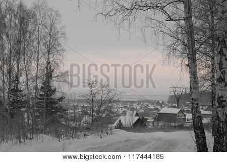 The Holiday Village In Winter