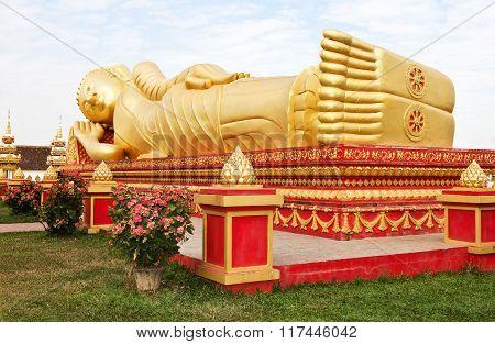 Buddha statue.Vientiane, Laos.
