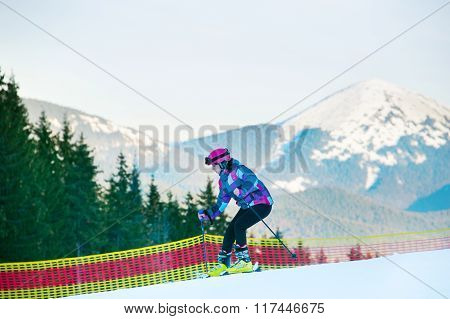 Woman At Ski Slope
