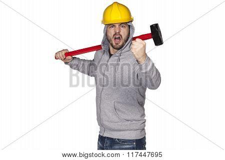 Builder Heats To Work