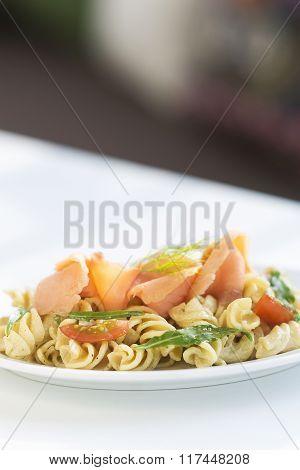 Smoked Salmon Tomato And Cream Pasta