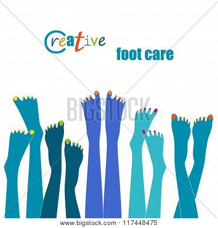 Creative Foot Care Concept