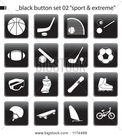 "Black Button Set 02 ""Sport & Extreme"""
