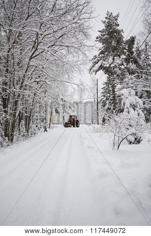snow mowing