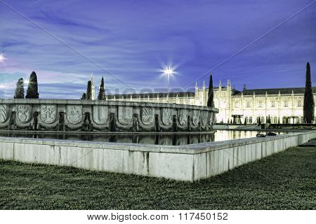 Mosteiro Dos Jeronimos, An Old Monastery In Belem; Lisbon, Portugal