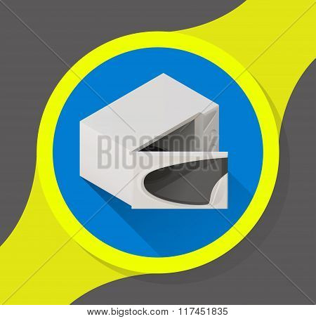 icon opened microwave oven isometric