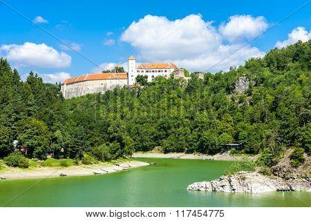 Bitov Castle with Vranovska Dam, Czech Republic