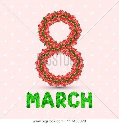 Greeting Card With Red March 8