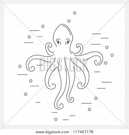 Octopus line logo