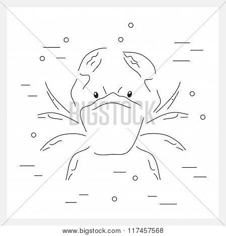 Crab line logo