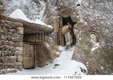Stone house in troglodyte vilage Kandovan near Tabriz, Iran