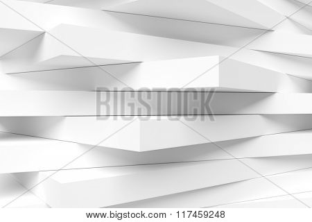 3d Abstract Architecture Design. White Modern Background