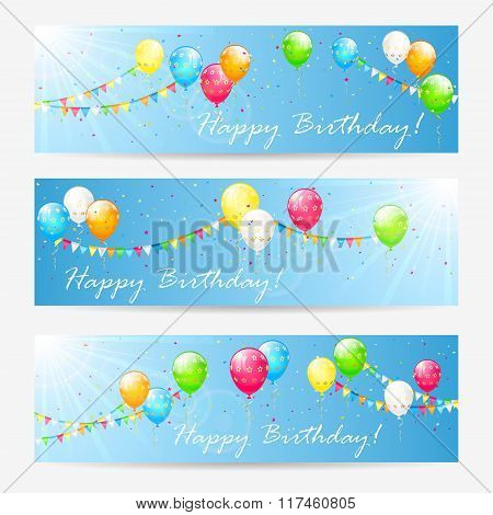 Birthday Cards With Balloons And Tinsel
