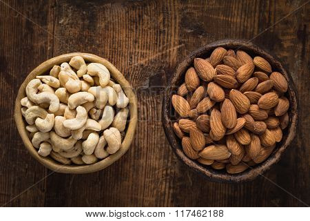Cashews and almonds