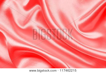Smooth Elegant Red Silk Or Satin As Background