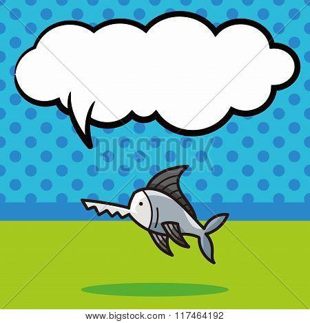 Sea Animal Shark Doodle