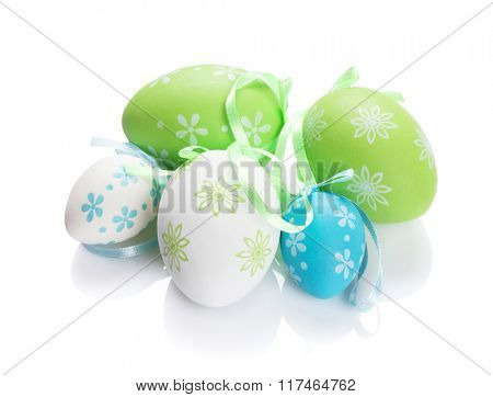 Easter eggs. Isolated on white background