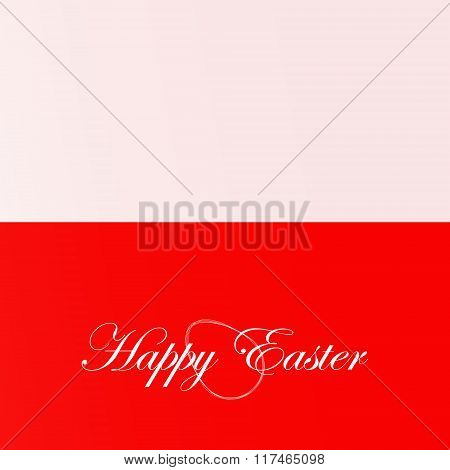 The Festive Card Happy Easter For Poland