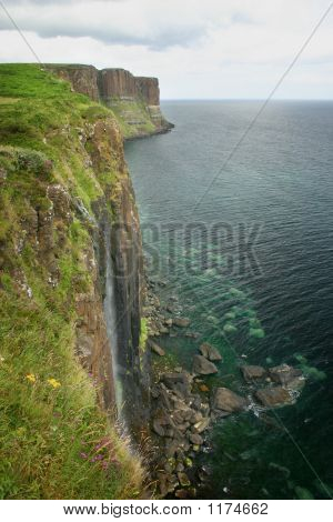 Cliff With Waterfall