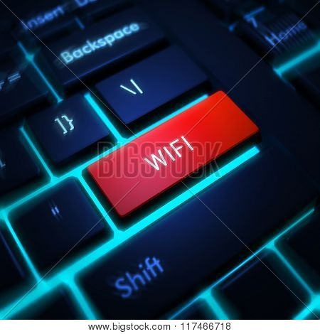 Computer keyboard with word