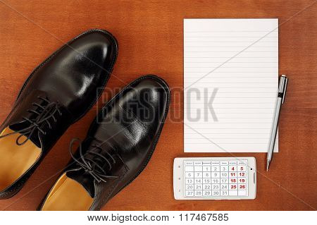 Shoes And Notepad