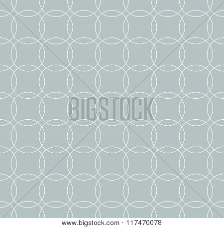 Seamless Grayscale Pattern With Interlcoking Circles, Rings