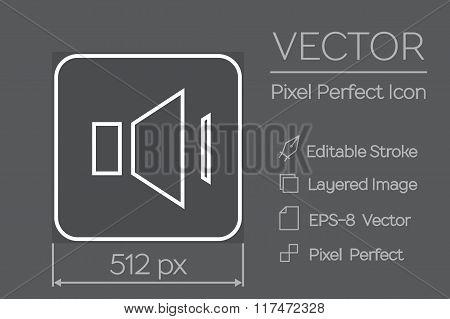 Speaker Pixel Perfect Icon