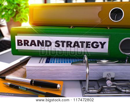 Green Ring Binder with Inscription Brand Strategy