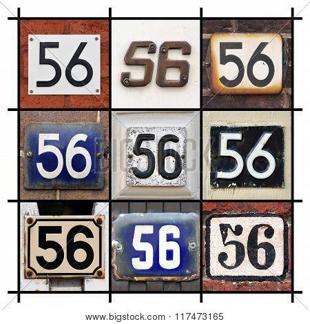 Number 56 sign