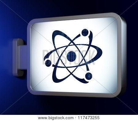Science concept: Molecule on billboard background