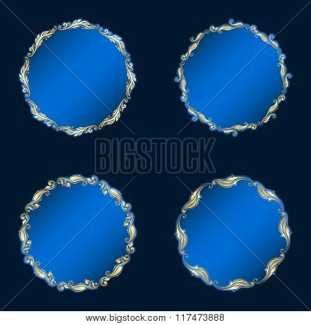 Vector Round Ornaments.