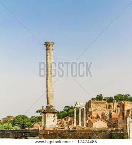 Antique Forum Of Rome, Italy