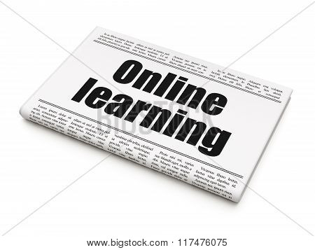 Learning concept: newspaper headline Online Learning